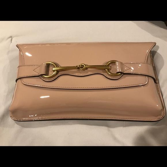 a35a0ecb144aa4 Gucci Bags | Horsebit Nude Patent Leather Clutch Bag | Poshmark